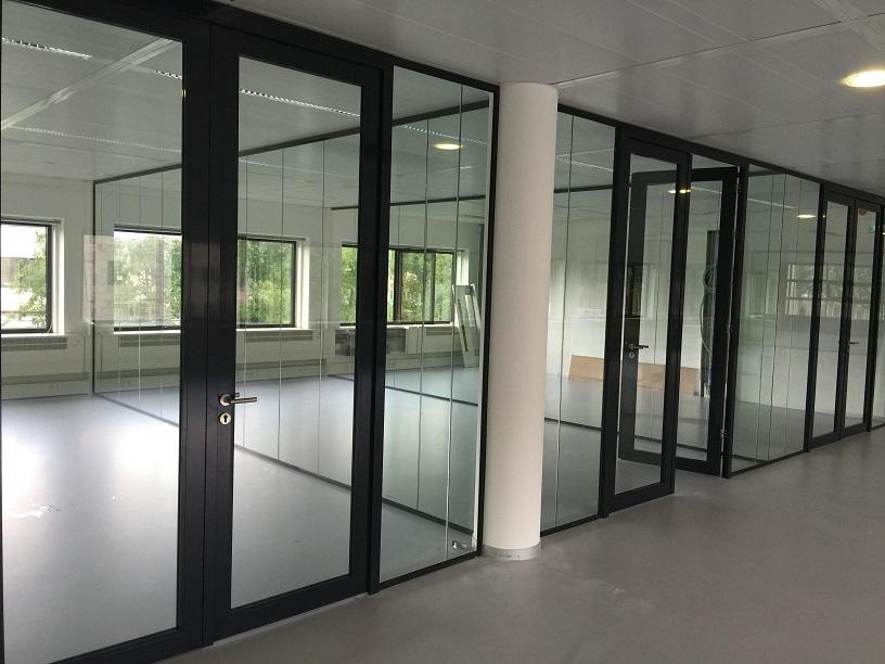 Glazen wanden voor kantoor projectinrichting